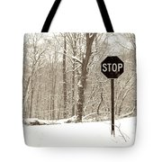 Stop Snowing Tote Bag by John Stephens