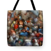 Store - The Busy Marketpalce Tote Bag