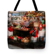 Store - Ny - Chelsea - Fresh Fruit Stand Tote Bag by Mike Savad