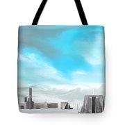 Storm Approachs Strange City Tote Bag