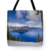 Storm Clearing At Crater Lake Tote Bag