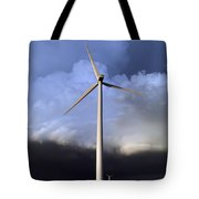 Storm Clouds And Wind Turbine Tote Bag
