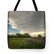 Storm Clouds Gather Over An Abandoned Tote Bag