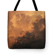 Storm Clouds Gather Over The Badlands Tote Bag