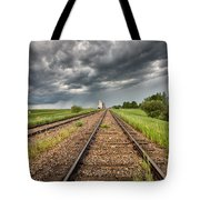 Storm Clouds Over Grain Elevator Tote Bag