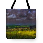 Storm Clouds Over Meadow Tote Bag