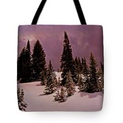 Storm Clouds Over The Monte Cristo Summit Tote Bag