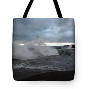 Storm On Black Beach Tote Bag