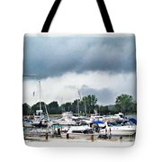 Storm Over Lake Erie Tote Bag