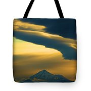 Storm Over Shasta Tote Bag