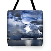 Storm Over The Ocean Tote Bag