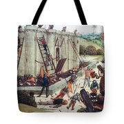 Storming Of Castle Tote Bag by Granger