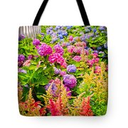 Storming The Garden Gate Tote Bag