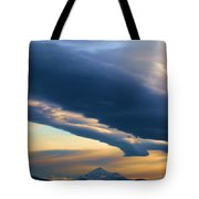 Storms Over Shasta Tote Bag