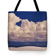 Storms Over The Mountains Tote Bag