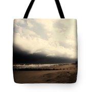 Stormy Beach At The Coast Of South Carolina Tote Bag