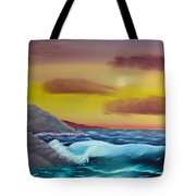 Stormy Beach Tote Bag