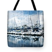 Stormy Blues Tote Bag