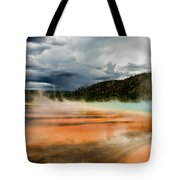 Stormy Grand Prismatic Spring Tote Bag