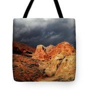 Stormy Skies Over Valley Of Fire Tote Bag