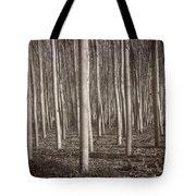 Straight Trees Tote Bag