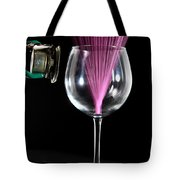 Straw In A Glass At Resonance Tote Bag