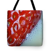 Strawberries And Milk Tote Bag