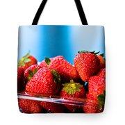 Strawberries In A Plastic Sale Box  Tote Bag