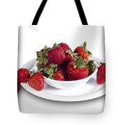 Strawberries In A White Bowl No.0029v1 Tote Bag