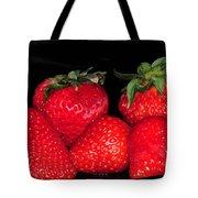 Strawberries Tote Bag by Paul Ward