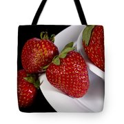 Strawberry Arrangement With A White Bowl No.0036 Tote Bag