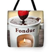 Strawberry Dipped In Chocolate Fondue Tote Bag by Elena Elisseeva