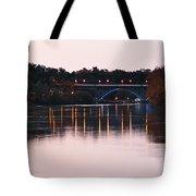 Strawberry Mansion Bridge At Dusk Tote Bag