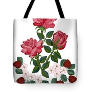 Strawberry Wine And Roses Tote Bag