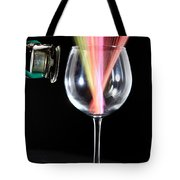 Straws In A Glass At Resonance Tote Bag