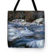 Stream Flowing Through The Rocks Tote Bag