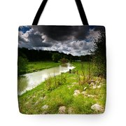 Stream Pano Tote Bag