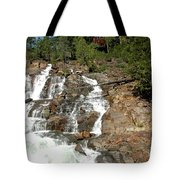 Streaming Glen Alpine Falls Tote Bag