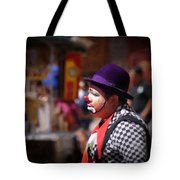 Street Clown At Central Park Tote Bag