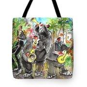 Street Musicians In Cyprus Tote Bag