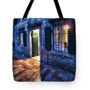 Street Scene In Ancient Kotor Montenegro Tote Bag