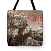 Street Scene Seasons Greetings Tote Bag