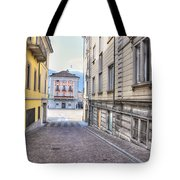 Street With Houses Tote Bag