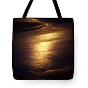 Gold Water On The Street Tote Bag
