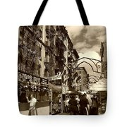 Streets Of Little Italy Tote Bag