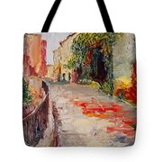 Streets Of Old Cannes Tote Bag