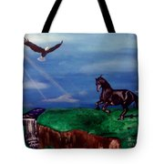 Strenght And Flight Tote Bag