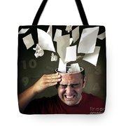 Stressed Tote Bag by Carlos Caetano