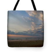 Strolling At Sunrise On The Shore Of Maine Tote Bag