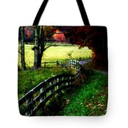 Strolling Down The Old Country Road Tote Bag